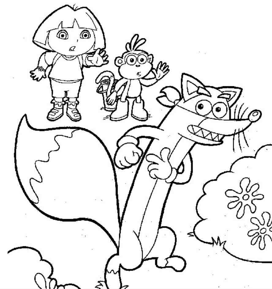 HD wallpapers coloriage a imprimer dora gratuit
